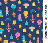 abstract characters vector... | Shutterstock .eps vector #318955505