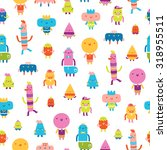 abstract characters vector... | Shutterstock .eps vector #318955511
