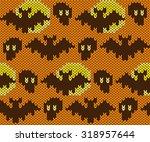 knitted seamless pattern.... | Shutterstock .eps vector #318957644