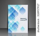 template flyer with abstract... | Shutterstock .eps vector #318957917