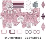 party set. gift box template. ... | Shutterstock .eps vector #318968981