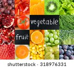 healthy fresh color food.... | Shutterstock . vector #318976331