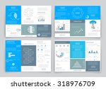 big set brochures for business... | Shutterstock .eps vector #318976709