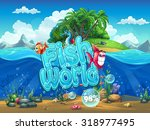 fish world   illustration boot... | Shutterstock .eps vector #318977495
