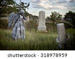 girl wearing a home made life...   Shutterstock . vector #318978959