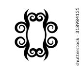 frame tribal style vector black ... | Shutterstock .eps vector #318984125