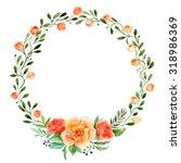 floral wreath. invitation....   Shutterstock . vector #318986369