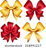 set of colorful gift bows.... | Shutterstock .eps vector #318991217
