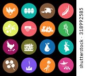 set of  sixteen agriculture icon | Shutterstock .eps vector #318992585