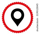 map marker round stamp icon....