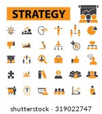 strategy  management  business... | Shutterstock .eps vector #319022747
