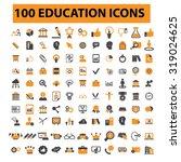 100 education  learning  study  ... | Shutterstock .eps vector #319024625