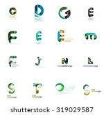 set of new universal company... | Shutterstock .eps vector #319029587