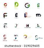 set of new universal company... | Shutterstock .eps vector #319029605