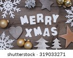 white letters with word merry... | Shutterstock . vector #319033271