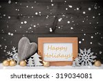 golden christmas decoration on...   Shutterstock . vector #319034081