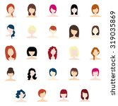 set of profile pictures of... | Shutterstock .eps vector #319035869