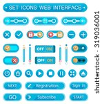 vector set of buttons and...