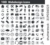100 webdesign icons set  black  ...