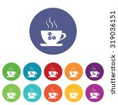 coffee cup icons set  on...
