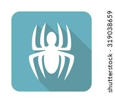 spider icon  square  with long...