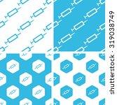 syringe patterns set  simple... | Shutterstock . vector #319038749