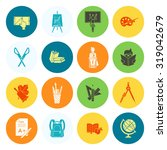 school and education icon set.... | Shutterstock . vector #319042679