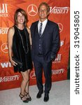 Small photo of WEST HOLLYWOOD, CA/USA - SEPTEMBER 18 2015: Amanda Fabian and Patrick Fabian attend the Variety and Women in Film Annual Pre-Emmy Celebration.