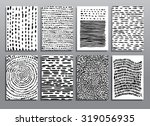 abstract grunge hand drawing... | Shutterstock .eps vector #319056935
