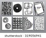 abstract grunge pattern set.... | Shutterstock .eps vector #319056941