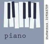 Piano Keys On Blue Background ...