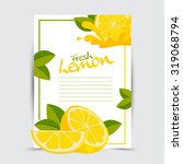 fresh lemon vector | Shutterstock .eps vector #319068794
