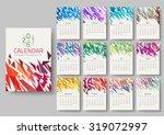 geometrical calendar of 2016.... | Shutterstock .eps vector #319072997
