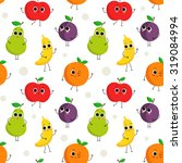 cute vector seamless pattern... | Shutterstock .eps vector #319084994