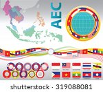 aec or asean or south east... | Shutterstock .eps vector #319088081