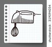 doodle mixer | Shutterstock .eps vector #319094054