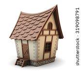 3d illustration of a house... | Shutterstock . vector #319098791