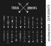 set of hipster tribal arrows on ... | Shutterstock .eps vector #319105475