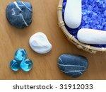 herbal salt and zen stones. spa ... | Shutterstock . vector #31912033