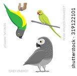 parrot african cartoon vector... | Shutterstock .eps vector #319122101