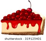 red cherry cheesecake...