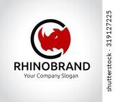 rhino logo  animal logo animal... | Shutterstock .eps vector #319127225