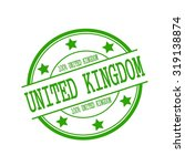 united kingdom stamp text on... | Shutterstock . vector #319138874