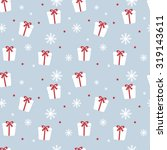 seamless christmas pattern. new ... | Shutterstock . vector #319143611