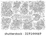 sketchy vector hand drawn... | Shutterstock .eps vector #319144469