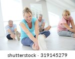 group of senior people doing... | Shutterstock . vector #319145279