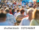 crowd of people walking on the... | Shutterstock . vector #319146869