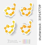 organisms paper sticker with... | Shutterstock .eps vector #319147739