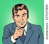 man pointing finger retro style ... | Shutterstock .eps vector #319157804