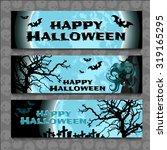 three horizontal postcard...   Shutterstock .eps vector #319165295